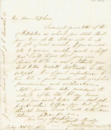 George Stephenson to George Robert Stephenson