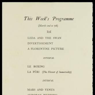 Mercury Theatre, London, February–March 1931