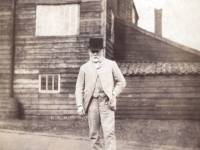 Edmund Littler, pictured outside his family print works, Colliers Wood