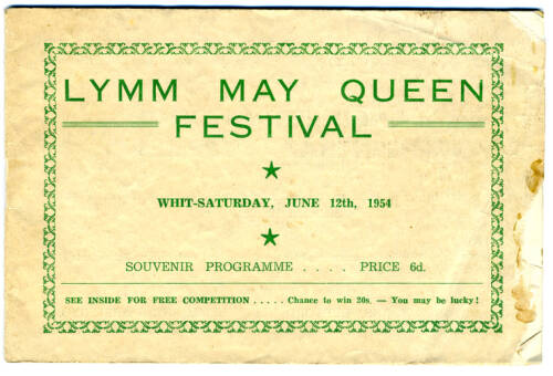 1954, Lymm May Queen Festival