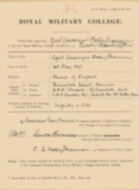 RMC Form 18A Personal Detail Sheets Jan 1915 Intake - page 47
