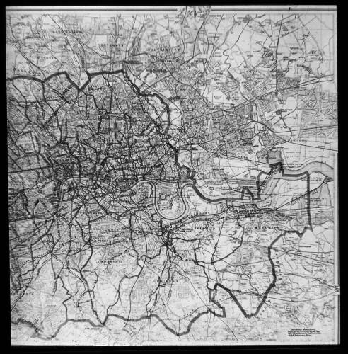 """2"""" : 1 mile sewer map of London east"""
