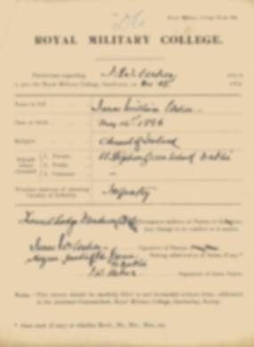 RMC Form 18A Personal Detail Sheets Jan 1915 Intake - page 361