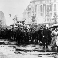 Jarrow Marchers at Marble Arch