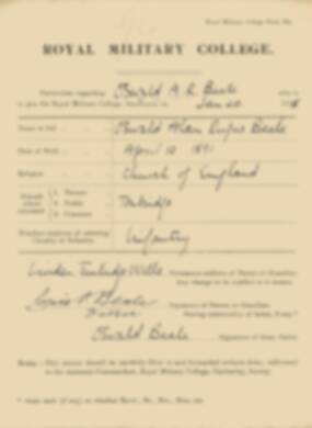 RMC Form 18A Personal Detail Sheets Jan 1915 Intake - page 21