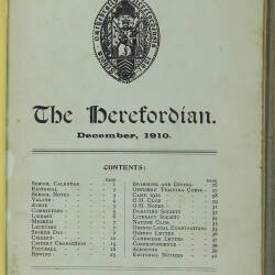 The Herefordian No 65_December 1910
