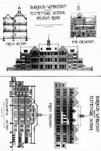 Building plans for Pelham School, Wimbledon