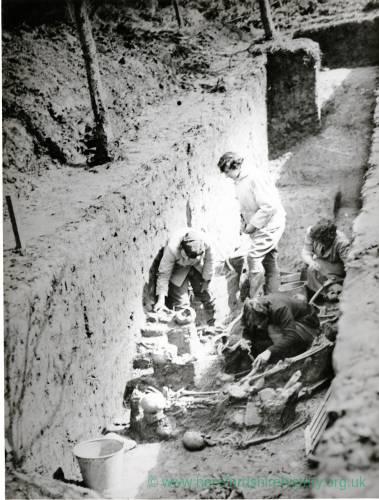 Sutton Walls, surveyors at work, 1949