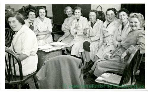 ROF Rotherwas munitions workers on tea break