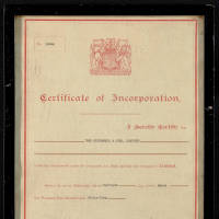Certificate of Incorporation of 'Ben Popplewell & Sons, Limited'