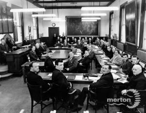 Merton and Morden Urban District Council: Final meeting.