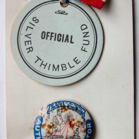 Silver Thimble Fund Badge