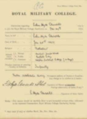 RMC Form 18A Personal Detail Sheets Jan 1915 Intake - page 113