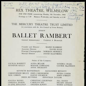 Rex Theatre, Wilmslow, November 1964