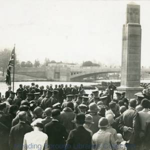 The unveiling of Caversham War Memorial in Christchurch Meadows, 5 May 1928.