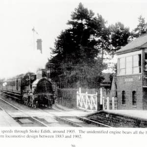 Railway Station, Stoke Edith, Herefordshire c1905