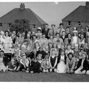 Grenoside Blacksmith Lane Residents, Coronation Celebrations 1953.