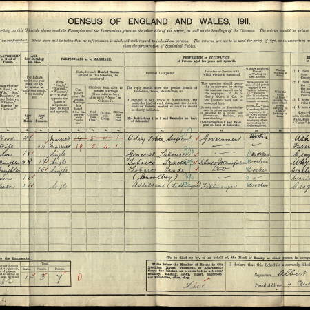 1911 Census - 9 Century Road, Mitcham