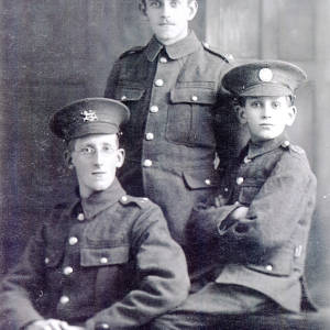 Davies brothers in uniform, October 1914