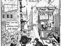 Cartoon showing the Wimbledon Air- Bus