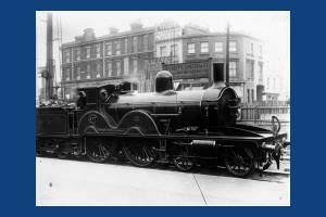 LSWR Adams No 577 at Wimbledon Station