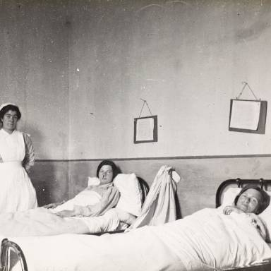 Patients and Nurse, Women's Ward