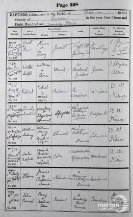 Baptism Record - John Percival Farren