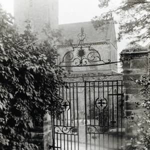 Dore Abbey, iron gates at rectory