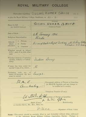 RMC Form 18A Personal Detail Sheets Feb & Aug 1924 Intake