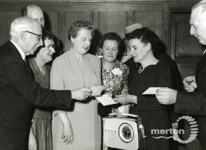 Miss H Baker: Retirement party, 1960