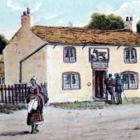 Southport, the Black Horse pub, postcard illustration
