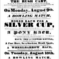 1858, Lymm Rushbearing Poster