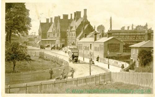 Barrs Court Station forecourt, Hereford