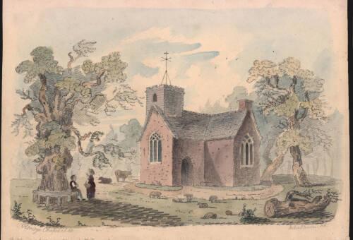 Oldridge Chapel, c1830, Devon