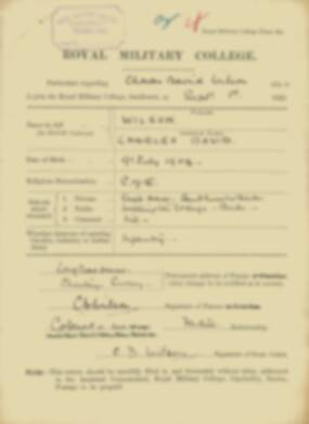 RMC Form 18A Personal Detail Sheets Feb & Sept 1922 Intake - page 314