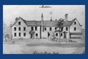Rear of Church House, Merton.