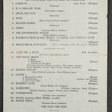 Duke Ellington Orchestra Concert – Massey Hall, Toronto  December 27th   1945 (Incomplete)