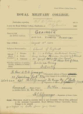 RMC Form 18A Personal Detail Sheets Feb & Sept 1922 Intake - page 56