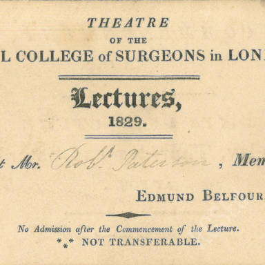 Royal College of Surgeons of England Lectures