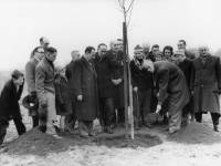 Mayor, Alderman H Simms, at Tree Planting Ceremony