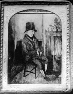 Ferrotype of a Mitcham cricketer