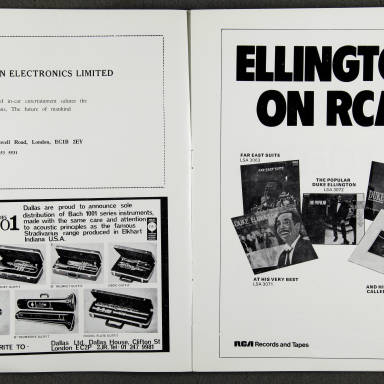 Duke Ellington Orchestra 'Sacred Concert' – Westminster  Abbey 24th   October 1973 011