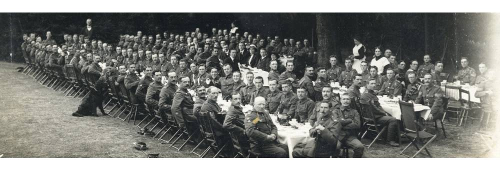Recruiting Party, Royal Berkshire Regiment, After a Recruiting Drive, Reading, Summer 1915.