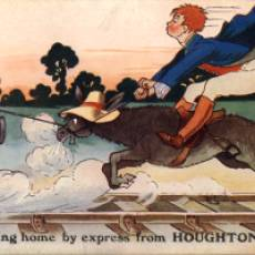 "1916 Postcard ""I am coming home by express from Houghton Regis"""