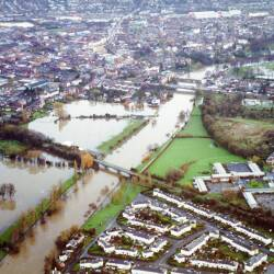 River Wye flooding in Hereford, December 2000