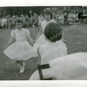 1960's Maypole Country Dancing In School Field (j)