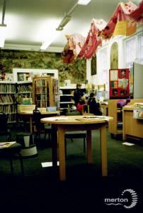 Interior of Wimbledon Library