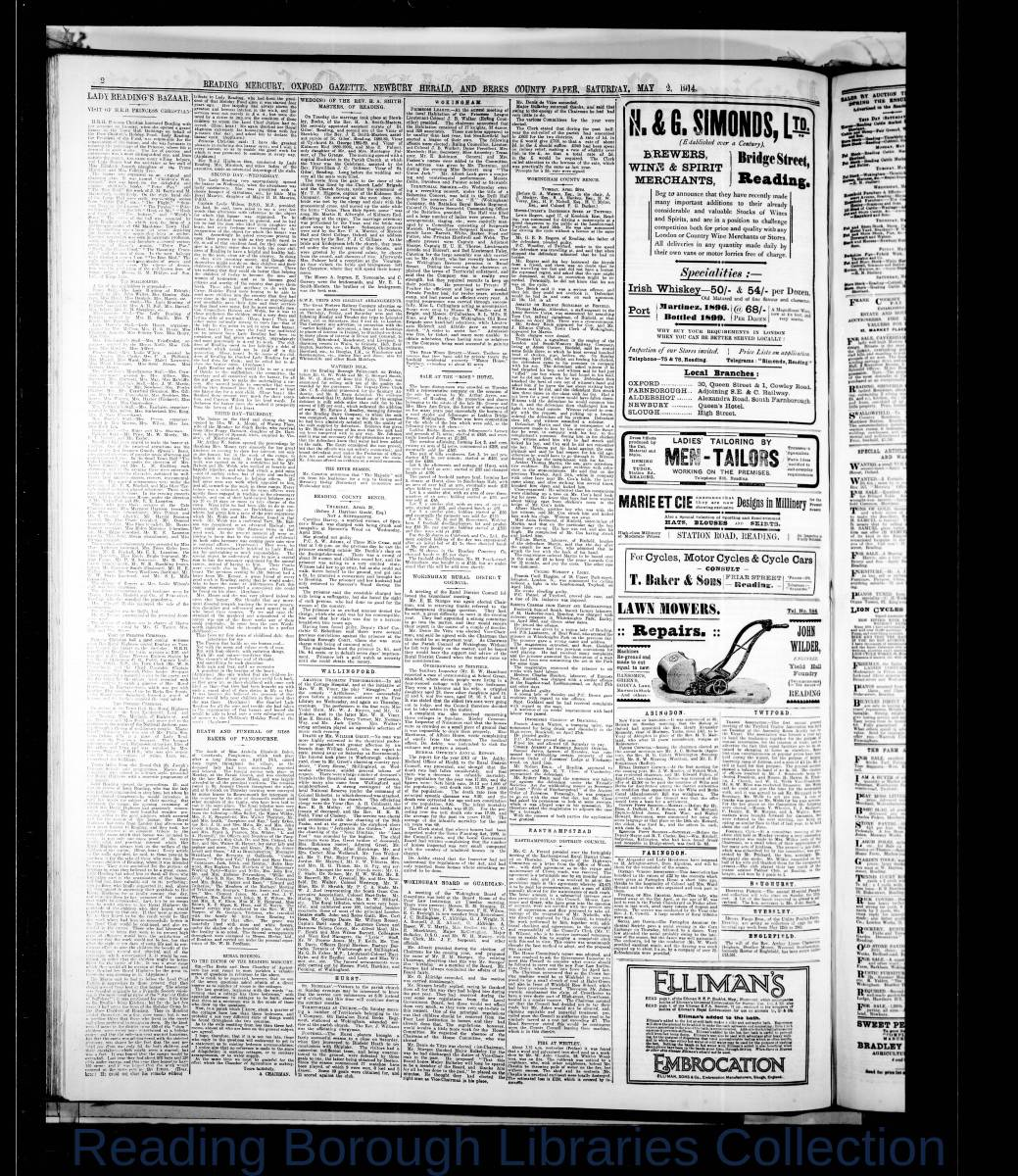 Reading Mercury Oxford Gazett Saturday, May2, 1914. Pg 2
