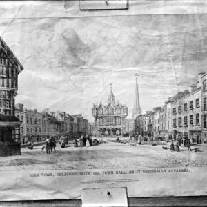 G36-064-14 Print of Hereford High Town (published 1 Jan 1838).jpg