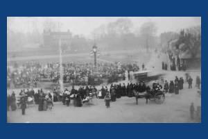 Unveiling of Mitcham clock tower, Fair Green, Mitcham